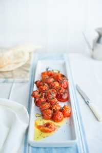 Cherry vine tomatoes roasted